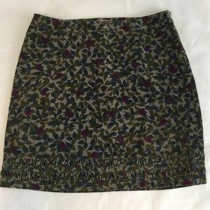 Boden Skirt Women's Sz US 14L Corduroy Floral